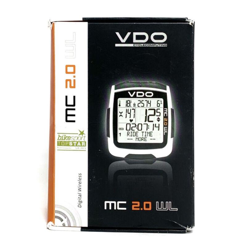 MC 2.0 WL VDO Cycle Computer Heart Rate Kit + Sensor & Strap Cadence Transmitter
