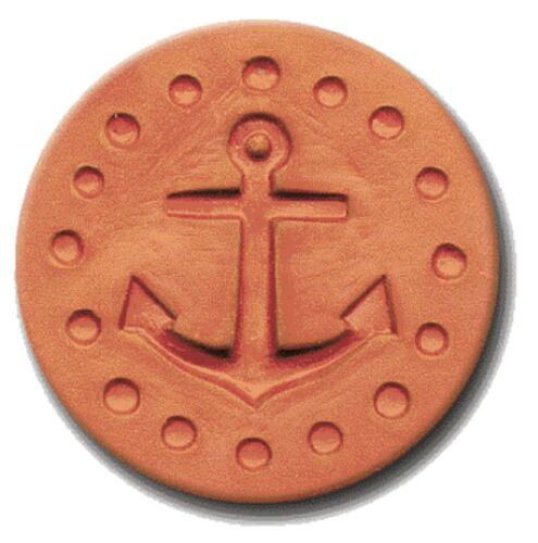 """RYCRAFT 2"""" Round Cookie Stamp with Handle & Recipe Booklet--ANCHOR"""