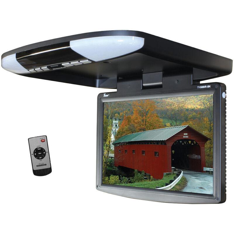 "TVIEW T1588IR-BK Tview 15.4"" Wide Screen LED Flip Down Monitor (Black)"