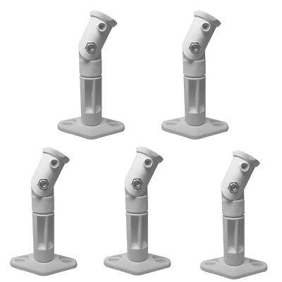 White - 5 Pack Lot - Universal Wall or Ceiling Speaker Mount