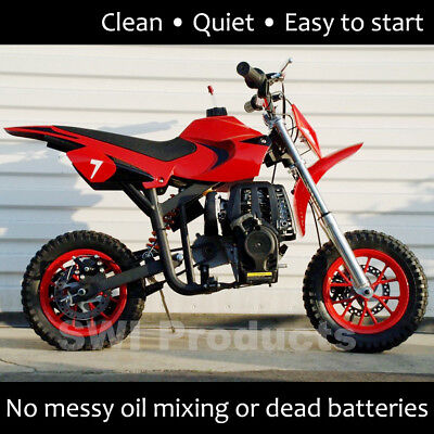 40cc Straight Gas Mini Dirt Bike pit bike for kids - Red
