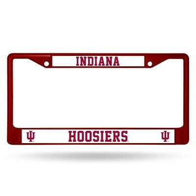 (Indiana Hoosiers NCAA Licensed Maroon Painted Chrome Metal License Frame)