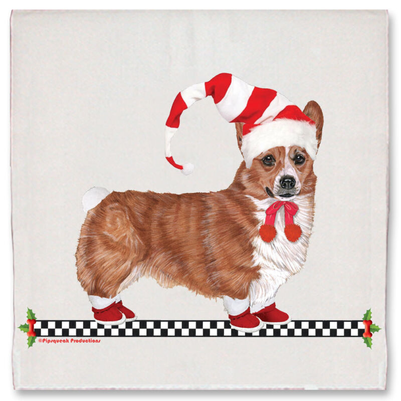 Corgi Pembroke Welsh Christmas Kitchen Towel Holiday Pet Gifts