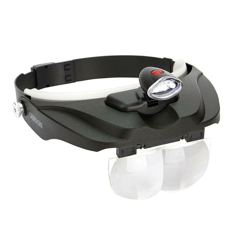 CARSON CP-60 Carson LED Lighted Head Visor Magnifier 1.5x2x2.5x3x