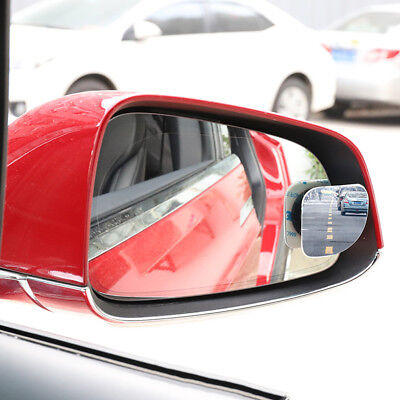 2x Stick on Blind Spot Mirror Car Auto Rearview Convex Adjustable Side Mirrors