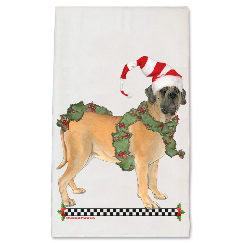 Mastiff Christmas Kitchen Towel Holiday Pet Gifts