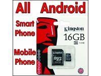 16gb x 4 Micro SDHC Memory Card For Smart Phone Mobile Phone Tablet Samsung Galaxy Note4 Note 3