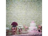 Birmingham flowerwall HIRE wedding floral backdrop wedding stage bridal shower flower wall