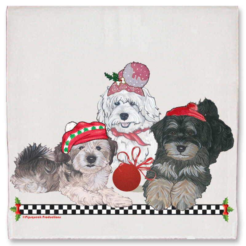 Havanese Christmas Kitchen Towel Holiday Pet Gifts