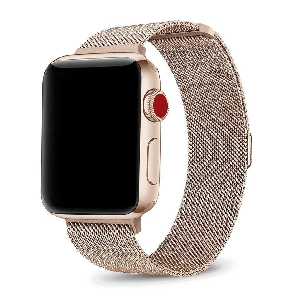 Stainless Steel Metal Band Strap Replacement 4 Apple iWatch Series 4 44mm Gold Jewelry & Watches