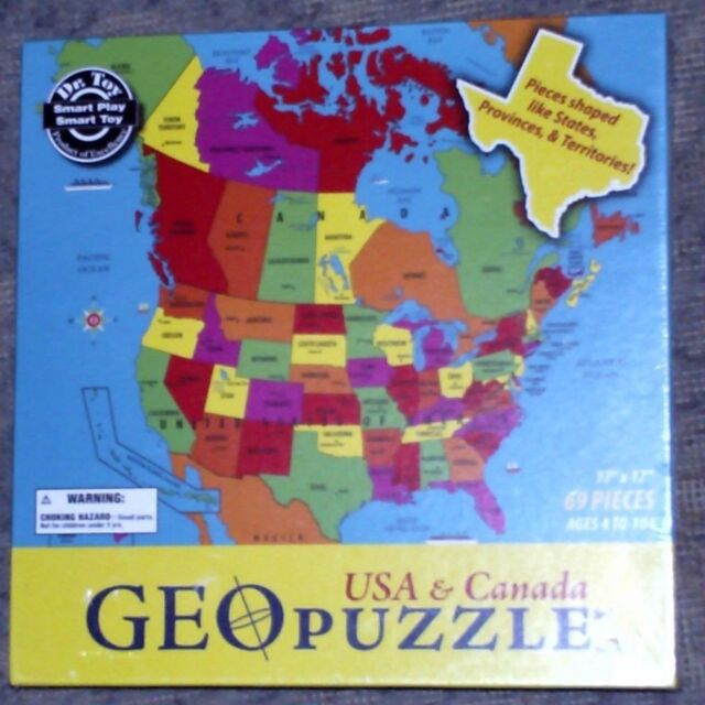 GeoPuzzle USA and Canada States Provinces Toy Puzzle  eBay