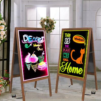 Indoor Outdoor Wood A-frame Chalkboard Led Sign Messsage Board Sidewalk Wedding