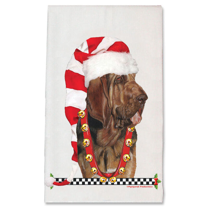 Bloodhound Christmas Kitchen Towel Holiday Pet Gifts