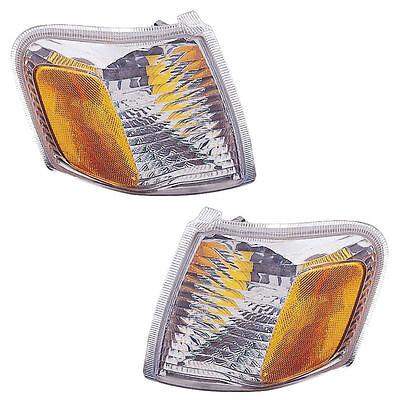 Pair (Left & Right) Corner Lights Fits 2001-2003 Ford Explorer Sport, Sport -