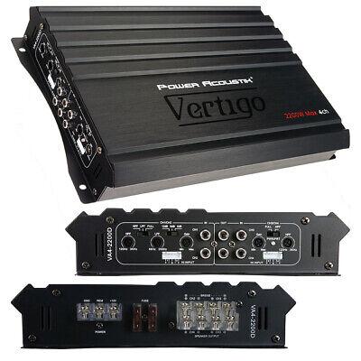Power Acoustik VA42200D Vertigo Series 4 Channel Amplifier 2200w Max