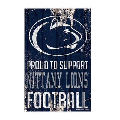 """Penn State Nittany Lions 11""""x17"""" Proud to Support Wood Sign [NEW] Banner Wall"""