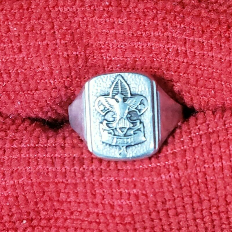Vintage Boy Scouts BSA Sterling Silver Ring Size 9