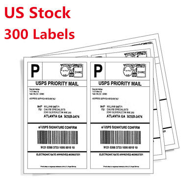 300 Half Sheet Self Stick Shipping Labels 8.5x5.5 For Ebay Fedex Usps