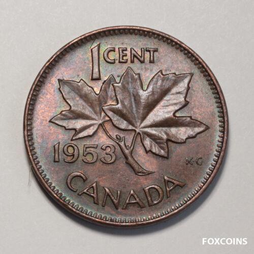 🇨🇦 1953 Canada Small cent.  BU / UNC       wow