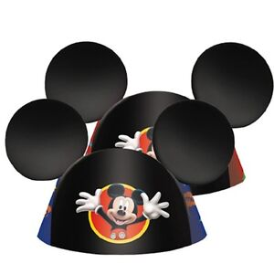 Disney Mickey Mouse Birthday Party Ears 8ct Party Hats Favors.