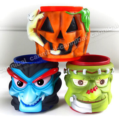 ~ AMBROSOLI - promotion - HALLOWEEN party - set of 3 - character MUGs  - Promotion Halloween