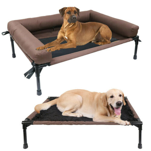 Extra Large Raised Pet Cot Elevated Dog Bed With Mesh or Plu