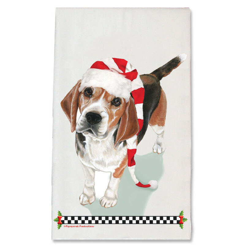 Beagle Christmas Kitchen Towel Holiday Pet Gifts