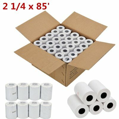 2 14 X 85 Thermal Receipt Paper Rolls Of 50 Credit Card Pos Cash Register