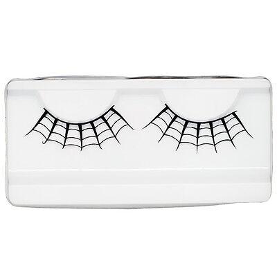 EMILYSTORES Spider Web Halloween Paper Lashes Eyelash Extensions 1 Pair Black - Halloween Spider Eyelashes
