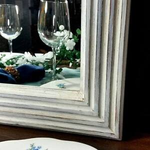 Framed Mirror - White Shabby Chiq