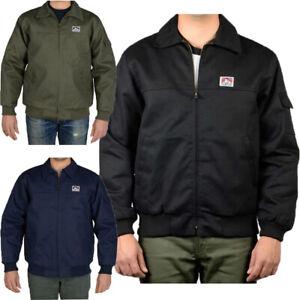 Mens Jackets Ben Davis Mechanic's Jacket Quilted lining Zipper Front Jacket