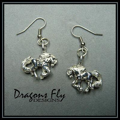 Horse Earrings Equine Earrings Friesian Stallion Earrings Horse Jewelry