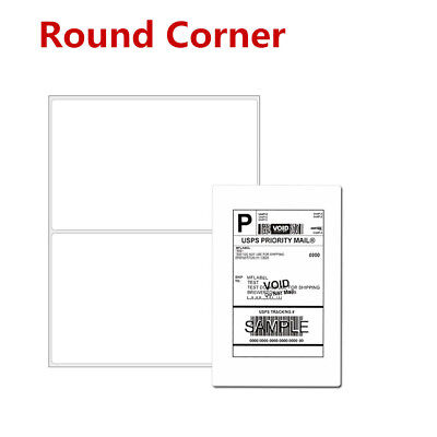 Round Corner 200-5000 Half Sheet Shipping Labels Self Adhesive For Usps Fedex