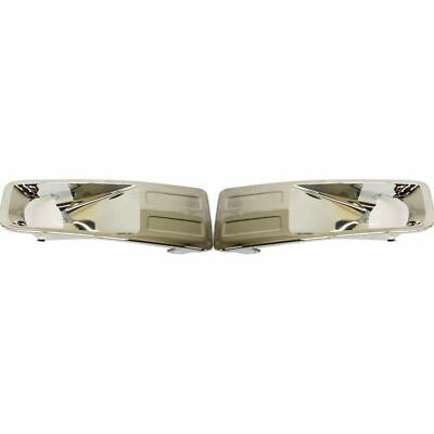 Chrome Fog Light Trim - Chrome Fog Light Trim Pair Set Driver & Passenger Side For 2006-2009 Ford Fusion