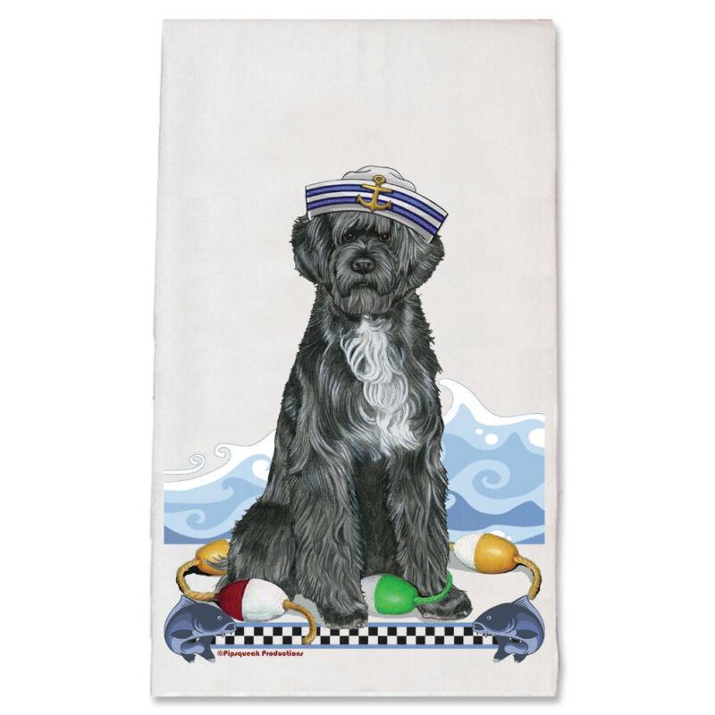 Portuguese Water Dog Portie Dog Kitchen Dish Towel Pet Gift