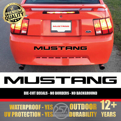 (Piano Black) FORD MUSTANG Bumper Letters Vinyl Decal Insert Sticker 1999-2004 (Ford Mustang Bumper Letter Inserts)