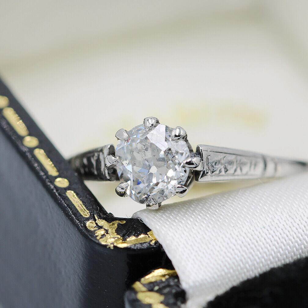 Antique 18ct Gold & Platinum 0.65ct OLD CUT Diamond Ring