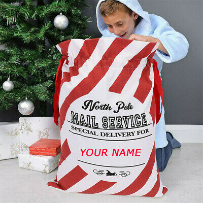 Large Christmas Stocking (Personalized Jumbo Santa Sack Extra Large Christmas Canvas Family Kids Gift Bag)