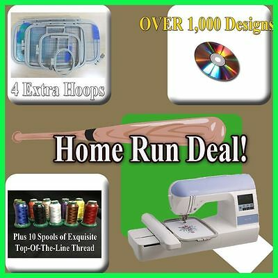 BROTHER NEW PE-770 PE770 EMBROIDERY MACHINE FREE UPGRADE DZ820