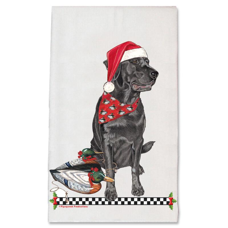 Labrador Retrievers Black Lab Christmas Kitchen Towel Holiday Pet Gifts