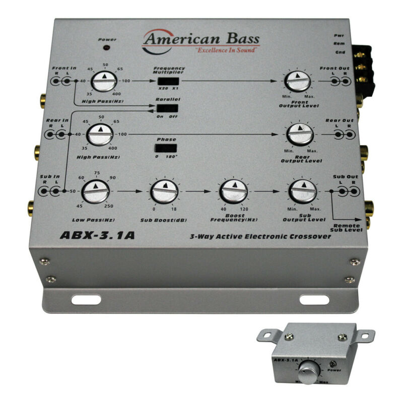 AMERICAN BASS ABX31A American Bass 3-Way Active Crossover