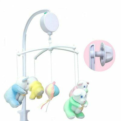 Holidayli 5Pcs Set Baby Crib Mobile Bed Bell Toy Holder Arm Bracket Nursery DIY