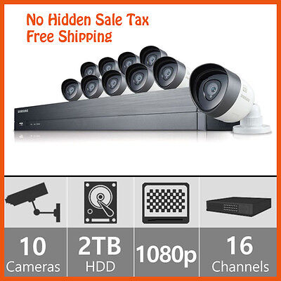 Samsung 16 Channel 1080p HD 2TB HD Security System with 10 1080p cameras  on Rummage