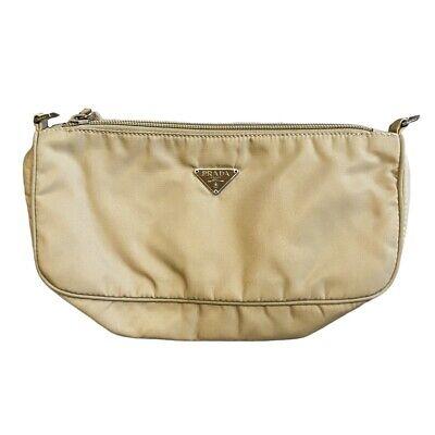 Vintage Prada Tessuto Sport Pouchette Mini Nylon Baguette Bag / Purse