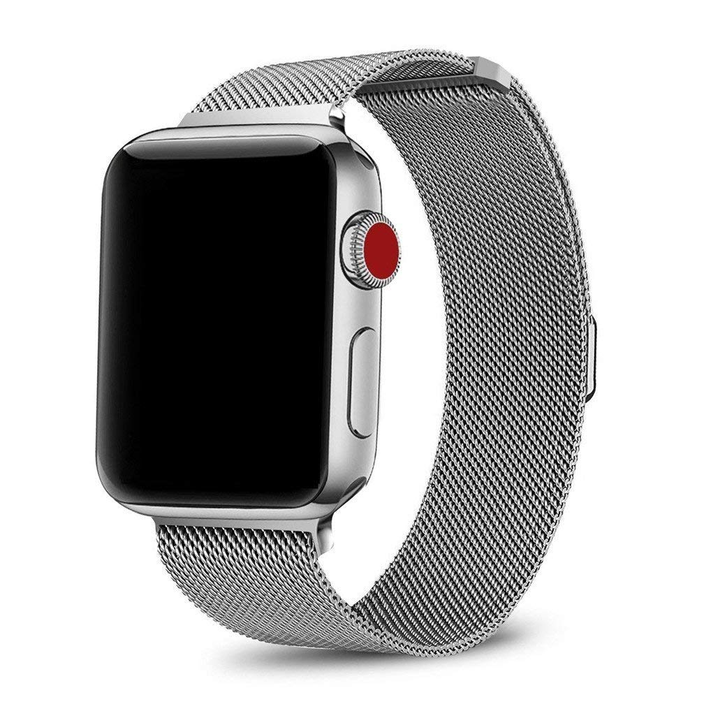 Stainless Steel Metal Band Strap Bracelet 4 NEW Apple Watch Series 4 44mm Silver Jewelry & Watches