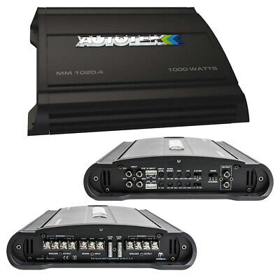 Autotek MM10204 Mean Machine Amplifier 1000 Watts  4 Channel