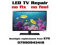 LED TV Repair , backlight replacement , No repair No charge. Paisley