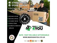 Removals service. Man and van 4 You, Luton van with tail lift, The best price