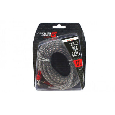 Cable Molded Ends - Cerwin Vega HED Series 2-channel RCA cable 17ft. Twisted pair single molded ends