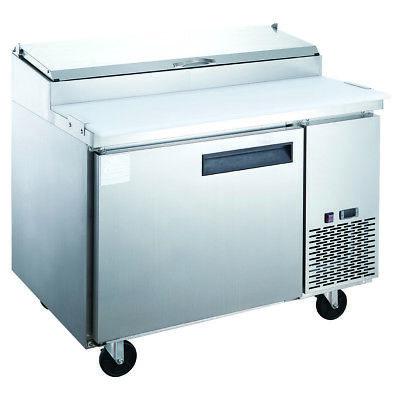 New Dukers Dpp44-6-s1 Commercial Single Door Pizza Prep Table Refrigerator
